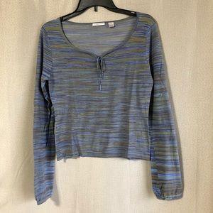 Vintage Halogen Silk Blend Earth Tone Sweater